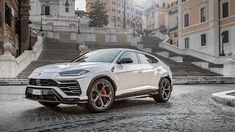 The Lamborghini Urus Increased Power Output To 700 HP The Lamborghini Urus is a ground-breaking vehicle. Taking into account that it is an SUV that conveys more power than numerous supercars, it will outrun most games vehicles. Lamborghini Supercar, Lamborghini Models, White Lamborghini, Vintage Jeep, Lightning Mcqueen, Custom Muscle Cars, Custom Cars, Disney Cars, Jeep Wrangler
