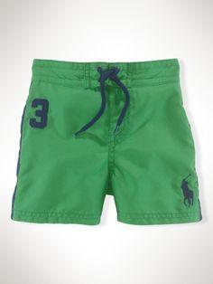 Sanibel Big Pony Board Short - Infant Boys Swim - RalphLauren.com--My baby's first pair of swim shorts!