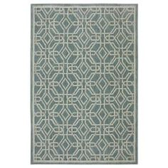 Bob Timberlake Reflections Collection Abbott Area Rug - Bay Blue - 96'' x 120''