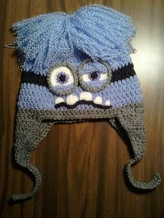 Evil Purple Minion Despicable Me Hat with by LittleDebiSnack, $25.00