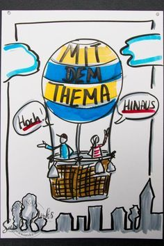 Mini flipchart course: The balloon ride Balloon Rides, The Balloon, Formation Management, Visual Note Taking, Sketch Notes, Doodle Sketch, Work Inspiration, Grafik Design, Design Thinking