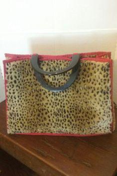 ab008d2f1 Details about Roberto Cavalli Class Luxury Designer Handbag Tote w Animal  Print Leopard Fur