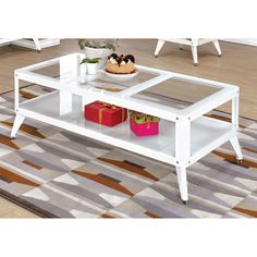 Furniture of America Linden Modern 2-piece Top Metal Accent Table Set