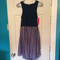 Summer Dress A Summery Navy Blue, Flowery Dress! Never worn! Xhilaration Dresses