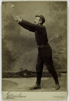 Delightfully Awkward Studio Action Shots of Players, Used on Early Baseball Cards - Carla Baseball Videos, Baseball Photos, Baseball Star, Baseball Players, Funny Baseball, Football Cards, Baseball Cards, National Games, Studio Poses