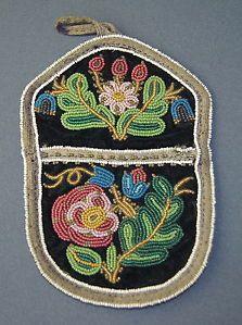native american beadwork | FINE-ANTIQUE-19C-NATIVE-AMERICAN-INDIAN-CREE-BEADWORK-BEADED-PURSE ...