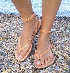 leather sandals, Ankle strap leather sandal women, handmade