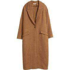 H&M Twill coat in a wool blend