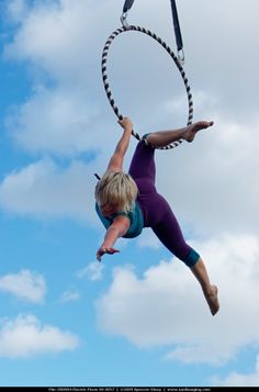 two point aerial hoop/lyra