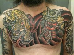31693-traditional-japanese-chest-tattoos.jpg (960×720)