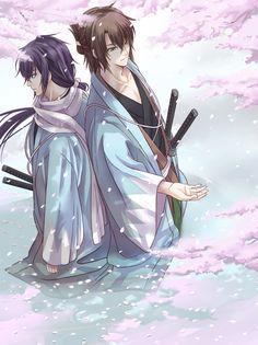Hakuouki Shinsengumi ♥ Saito Hajime and Okita Souji #Anime #Otome #Game