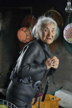 The women divers of Jeju Island (known as haenyeo) are unique and rare workers. For centuries, they have harvested seaweed and shellfish at depths of 20 meters, holding their breath for as long as two minutes without any equipment other than their rubber suits, masks and nets. The Korean women divers of Jeju Island have faced the tempestuous tides of history and struggle for economic survival.  Many of the haenyeo live a life of purpose and resilience well into their 90s.