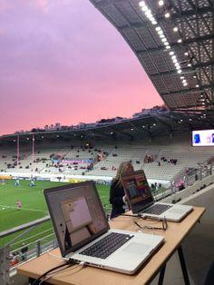 Sun setting analysis set up #R2C at Stade Français @SFParisRugby