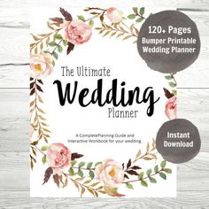 Wedding Planner, Printable Wedding Planner Binder, 100+ Pages DIY Wedding Planning. **This product is a DIGITAL PDF DOWNLOAD. No physical items will be mailed to you.***** This wedding planner has everything you will ever need to plan your ultimate wedding. We have included everything. We have devised this planner from scratch based on our experience in the industry with real brides and working with real vendors. 100 pages of complete organization. For the organized DIY bride. Keep all of…