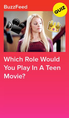 Which Role Would You Play In A Teen Movie? I got: the lead role Buzzfeed Movies, Buzzfeed Quizzes Love, Quizzes Games, Girl Quizzes, Tv Show Quizzes, Fun Online Quizzes, Quizzes About Boys, Quizzes For Kids, Fun Quizzes To Take