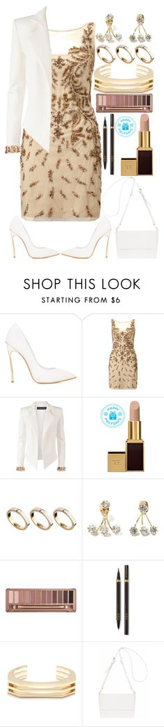 """""""587. Hey There"""" by adc421 ❤ liked on Polyvore featuring Casadei, Aidan Mattox, Alexandre Vauthier, Tom Ford, ASOS, Urban Decay, J.Crew, Oroton, PolydaysContest and firstofdecember"""