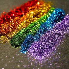 Multicoloured glitter