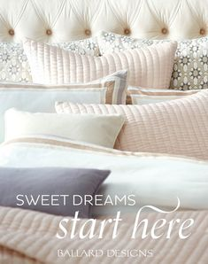 Who sells bedding sets? Find bedding sets, lined bedding, queen size bedding sets and more at Ballard Designs! Small Room Bedroom, Home Bedroom, Bedroom Furniture, Master Bedroom, Bedroom Decor, Bedroom Ideas, Bedroom Inspiration, Small Rooms, Master Suite