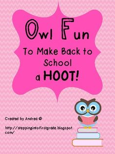 This includes a few fun back to school ideas with an owl theme! Included:*Whooo Has and Whooo Likes Getting to Know You Activities*Owl Additi...