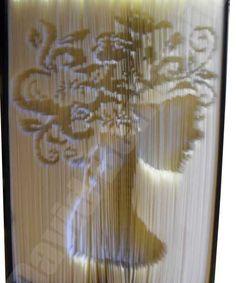 Lady Cut and Fold Book Folding Pattern