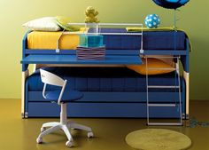 Another double or triple duty bed for kids.  Smart space saver.