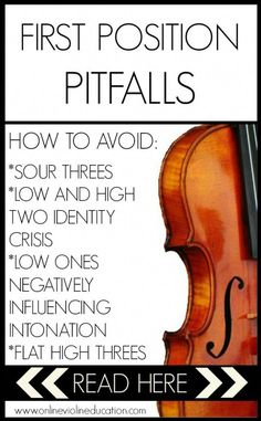 Avoid these common first position pitfalls. First position is a very important aspect of building a healthy foundation for your entire violin journey.first-position-pitfalls Violin Lessons, Drum Lessons, Singing Lessons, Singing Tips, Music Lessons, Violin Online, Violin Music, Guitar Songs, Teaching Music