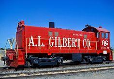 A.L. Gilbert Railroad, Alco S6 diesel locomotive in Keyes, California, USA