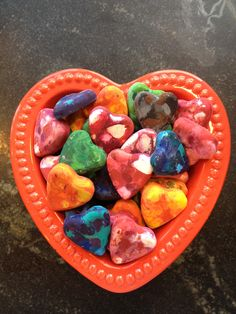#BeautifullyUpcycled - recycled Valentine crayon hearts makes a fun Valentine's Day gift for kids big and small.