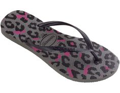 930bdfb3f68157 Havaianas Slim Animals  Grey Cool Shoes For Women