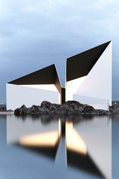 Dans les boards archi : architecture conceptuelle de Roman Vlasov