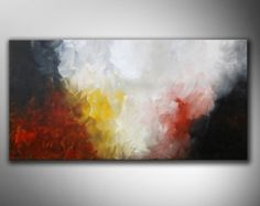 Gran pintura Original hecho a la medida, 60 x 30, Original Resumen, gran Resumen, Resumen de rojo, enorme pintura, arte de la pared roja