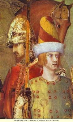 Simone Martini. St. Martin Renounces Arms. Olga's Gallery.