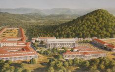 Olympia, Greece.  View to the North.  3rd century BC #ancientgreekarchitecture