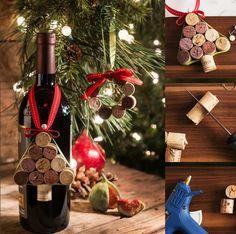 Los corchos de los vinos que has destapado todo el año lo puedes utilizar creativamente en navidad.  #vitrostyle #vitrostienda #navidad #idea #corchos