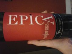 Epica red wine from Chile. Very smooth. Enjoyed it a lot.