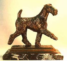 airedale terriers statue