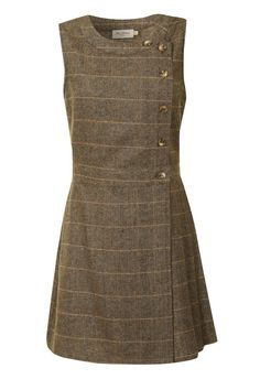Primrose Pinafore dress in grey tweed plaid by Miss Patina Races Fashion, Winter Mode, Tweed Dress, Work Wardrobe, Capsule Wardrobe, Mode Outfits, Mode Style, Dress Patterns, What To Wear