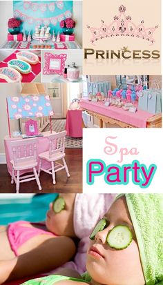 spa party set up | spa right to your little princess and her party guests our mobile spa ...