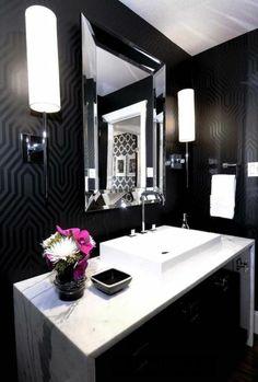 7 Badezimmer Deko Badezimmer Gestalten In Schwarz Und Weis Mit Blumen