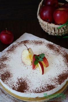 Tort cu mere si crema diplomat Panna Cotta, Pudding, Sweets, Cookies, Cake, Ethnic Recipes, Desserts, Food, Tv