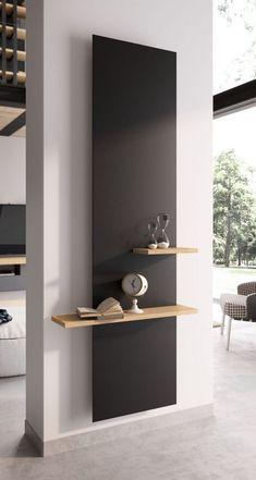 Home Room Design, Home Interior Design, Living Room Designs, Interior Columns, Design Bathroom, Bathroom Wall Shelves, Wall Shelves Design, Shelf Wall, Home Living Room