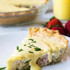 Eggs Benedict Quiche!  This super easy to make quiche comes out with perfectly flakey crust, creamy egg and bites of canadian bacon.  Not to mention it's smothered in an easy to make blender hollandaise sauce.  Perfect for brunch and upcoming Mother's Day!  PIN IT NOW TO SAVE! Hey hey!  Did you know that Mother's Day...Read More