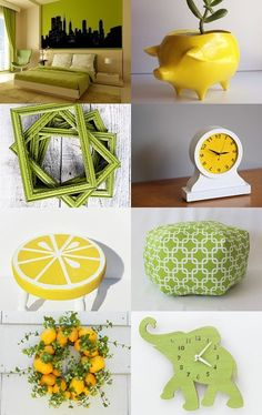 Home Decor: Lemon and Lime Edition by Cameo LLC on Etsy