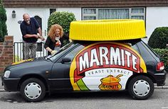 Some claim that if you put a blob of Marmite on a plate and repeatedly tap it with a spoon, it can turn white. Here are some other facts about Marmite Marmite, Facts, Canning, Spoon, Extensions, Garage, Plate, Lovers, Vegan