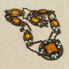Hey, I found this really awesome Etsy listing at https://www.etsy.com/listing/162308143/antique-gold-filled-and-enamel-necklace