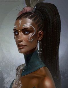 Black Women Art! Lanyra by Zephyri
