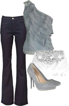 What to Wear: Girls Night Out Fashion Moda, Look Fashion, Womens Fashion, Fashion Night, White Fashion, Mode Style, Style Me, Komplette Outfits, Fashion Outfits