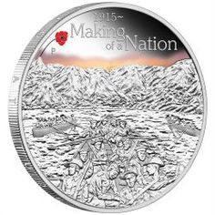 The ANZAC Spirit 100th Anniversary Coin Series - Making of a Nation 2015 1oz Silver Proof Coin