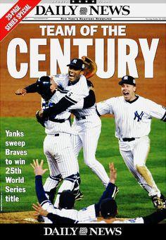 1999 Yankees winning world series newspaper