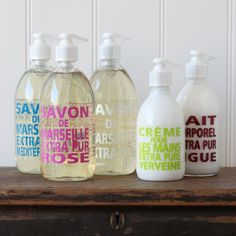 Fine French Soap and Hand Lotions by Compagnie de Provence.